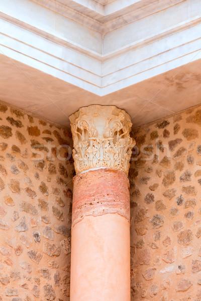 Kolumny Roman amfiteatr Hiszpania starożytnych budynku Zdjęcia stock © lunamarina