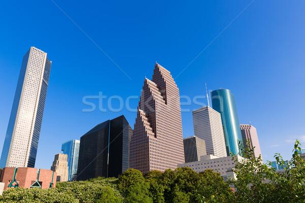 Houston horizonte norte cielo azul Texas EUA Foto stock © lunamarina
