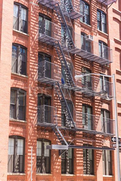 New York business costruzione viaggio mattone grattacielo Foto d'archivio © lunamarina