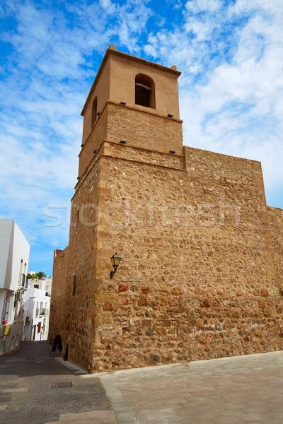 Mediterraneo chiesa Spagna facciata montagna Foto d'archivio © lunamarina