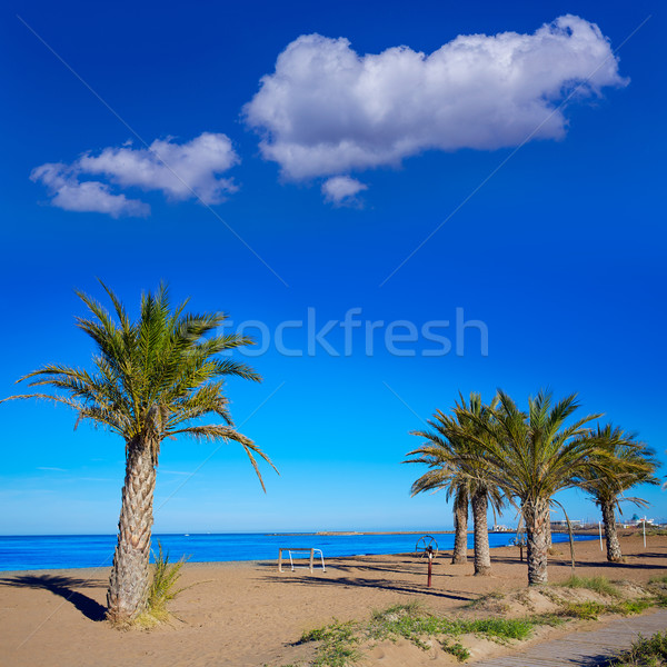 Denia beach in Alicante in blue Mediterranean Stock photo © lunamarina