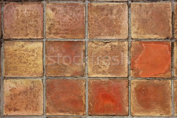 aged real roman clay square flooring mediterranean Stock photo © lunamarina