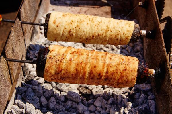 Fırın et kömür yaz Stok fotoğraf © lunamarina