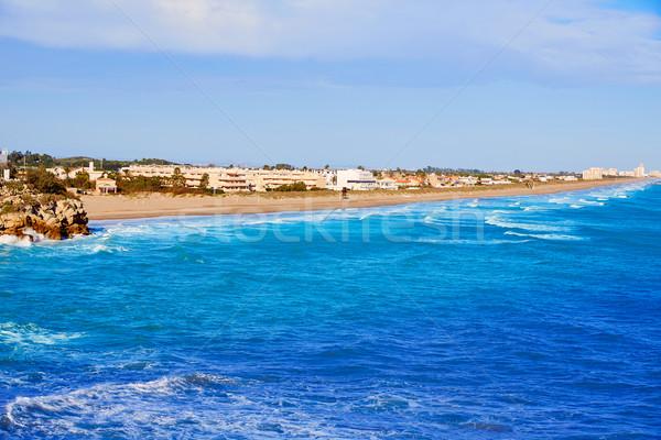 Strand antenne middellandse zee Spanje zee Valencia Stockfoto © lunamarina