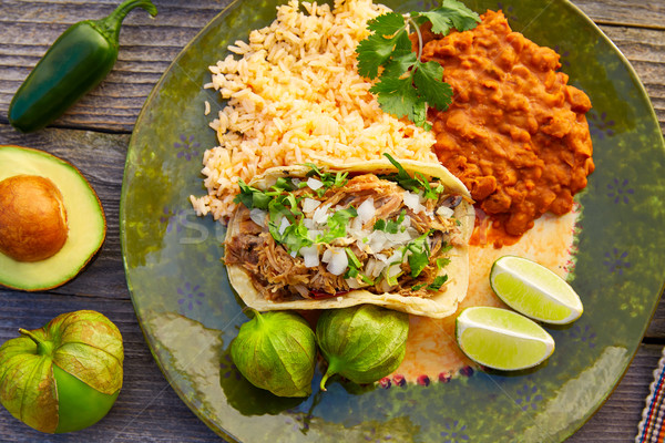 Meksika tacos salsa Meksika gıda malzemeler Stok fotoğraf © lunamarina