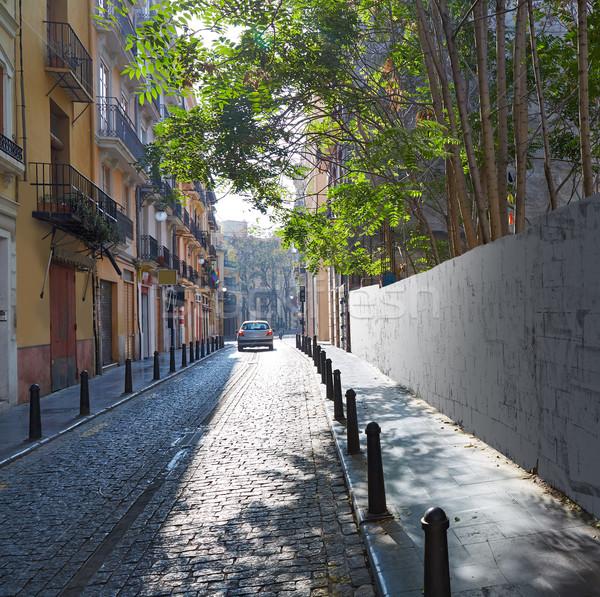 Valencia straat oude binnenstad Spanje gebouw kunst Stockfoto © lunamarina