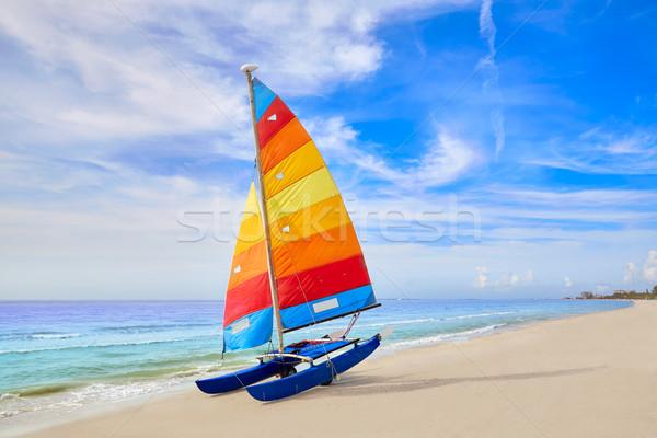 Florida erőd tengerpart vitorlás USA katamarán Stock fotó © lunamarina