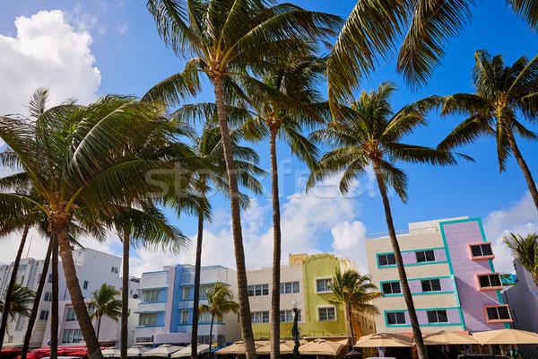 Miami strand oceaan art deco Florida wijk Stockfoto © lunamarina