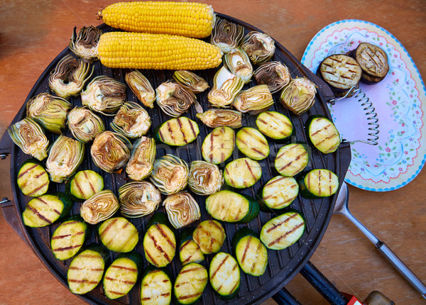artichoke zucchini corn cob grill vegetables Stock photo © lunamarina