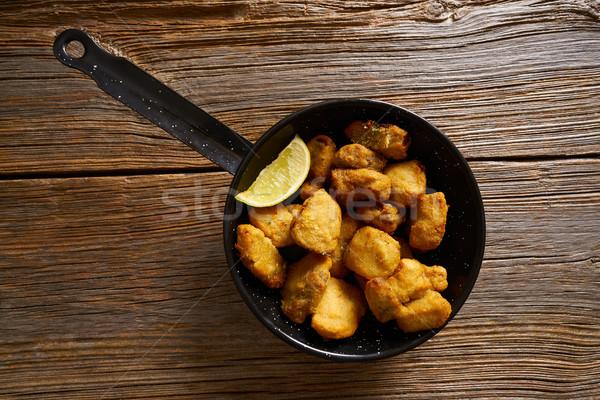 Tapas Adobo fried fish Andalusian Spain Stock photo © lunamarina