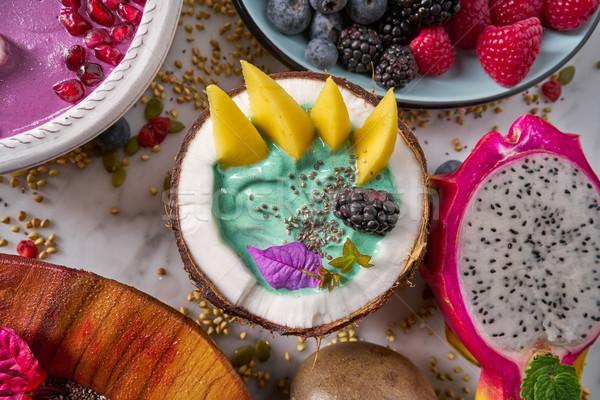 Tigela manga dragão fruto comida Foto stock © lunamarina