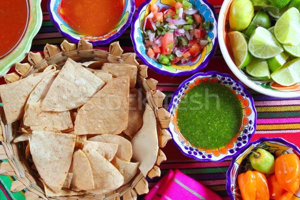 ストックフォト: メキシコ料理 · 唐辛子 · ソース · メキシコ · スパイス · 食品