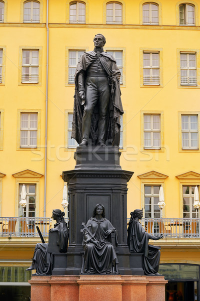 Friedrich August II Sachsen statue Dresden Germany Stock photo © lunamarina
