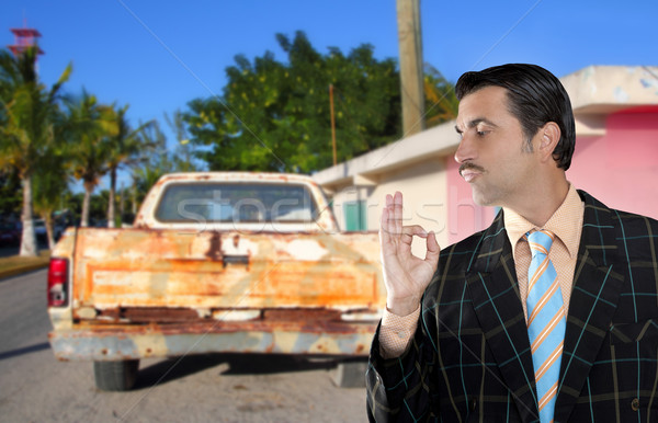 car used salesperson selling old car as brand new Stock photo © lunamarina