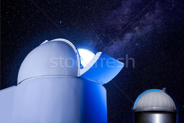 astronomical observatory dome stars night Stock photo © lunamarina