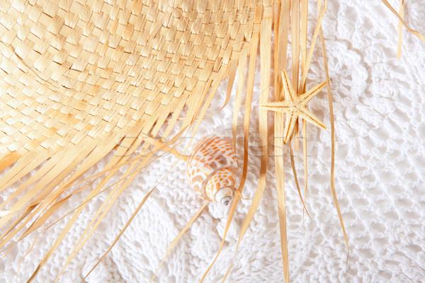 white cotton texture with  hat Stock photo © lunamarina