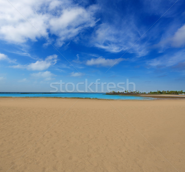Arrecife beach Lanzarote Playa del Reducto Stock photo © lunamarina