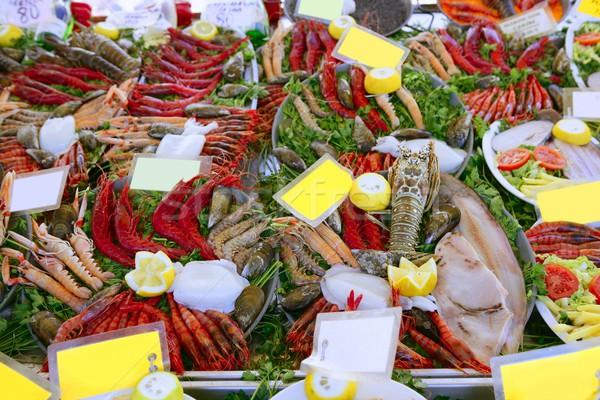 seafood in market over ice Stock photo © lunamarina