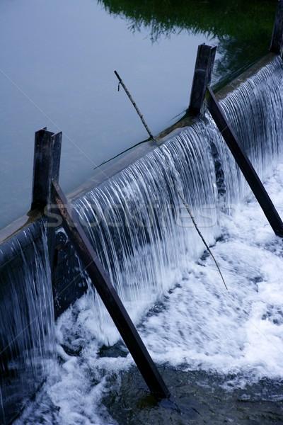 Blue litter river waterfall detail vertical Stock photo © lunamarina