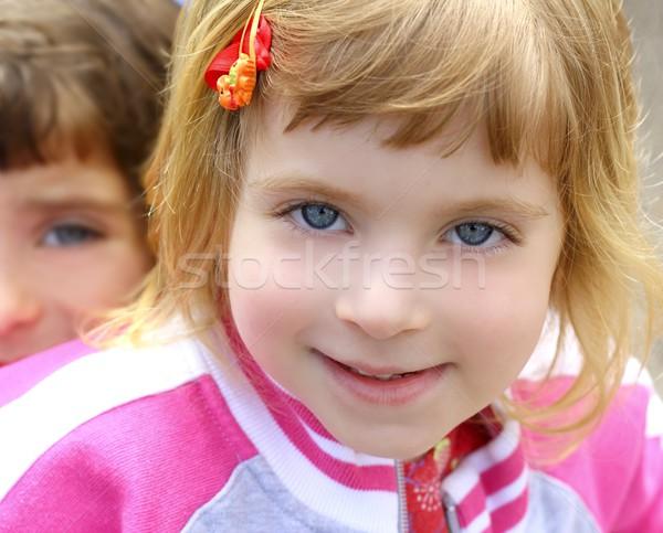Rubio nina retrato funny cara Foto stock © lunamarina