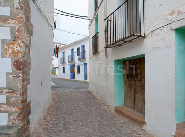 Ain village in Castellon whitewashed facades Spain Stock photo © lunamarina