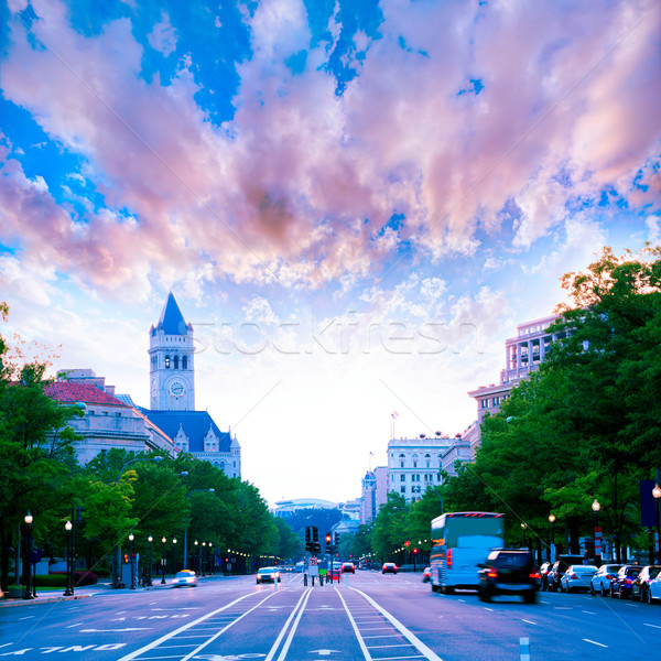 Pennsylvania Avenue sunset in Washington DC Stock photo © lunamarina