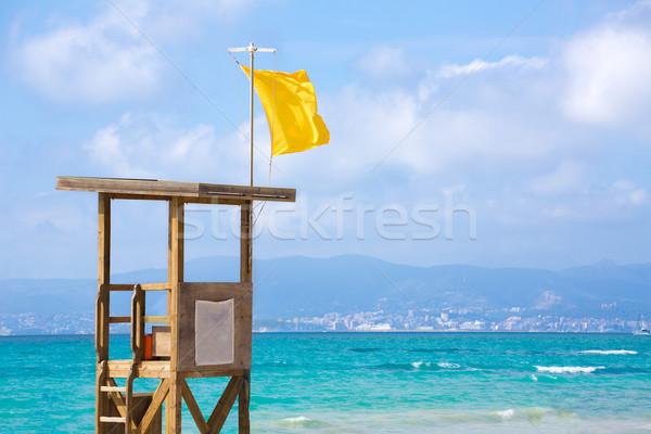 Strand majorca water landschap oceaan reizen Stockfoto © lunamarina