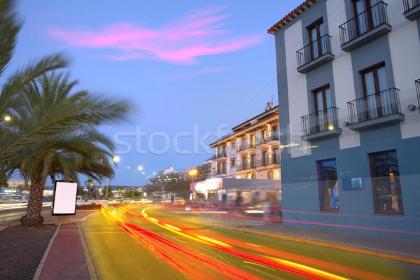 Denia old village sunset dusk in Alicante Spain Stock photo © lunamarina
