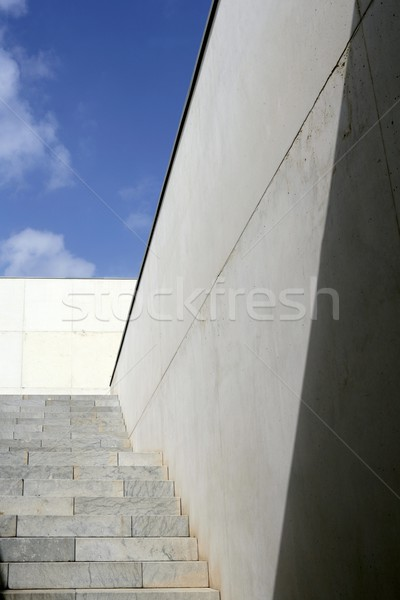 Moder architecture concrete stairs stairway Stock photo © lunamarina