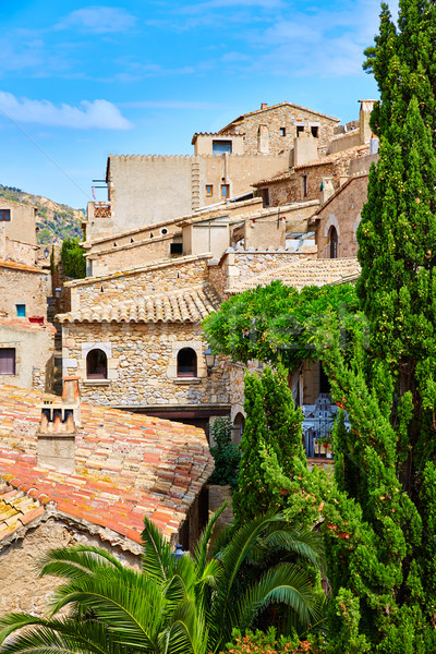 Tossa de Mar old town Vila Vella in Costa Brava Stock photo © lunamarina