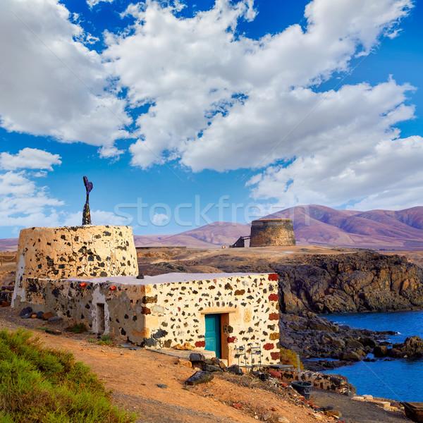 Canárias Espanha praia céu água sol Foto stock © lunamarina