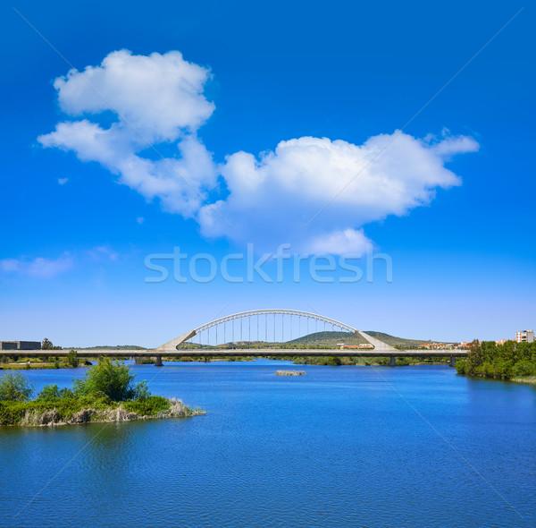 Merida in Spain Lusitania bridge over Guadiana Stock photo © lunamarina