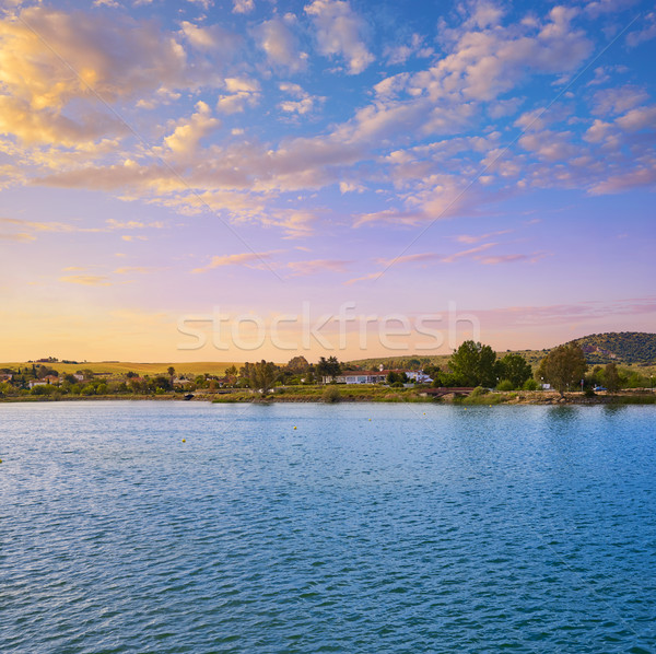 Roma İspanya doğa alan mavi Stok fotoğraf © lunamarina