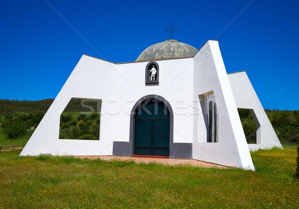 Pradera San Isidro church by Via de la Plata way Stock photo © lunamarina