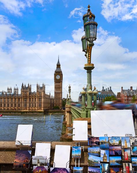 Big Ben London Uhr Turm Bilder Stock foto © lunamarina