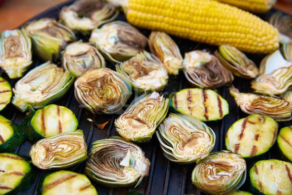 artichoke zucchini corn cob grill vegetables Stock photo © lunamarina