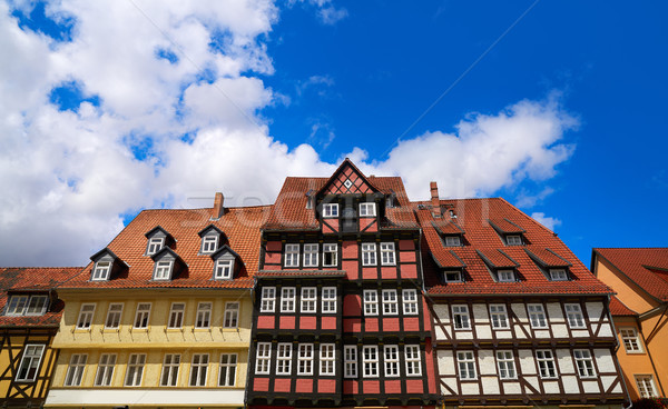 Ville Allemagne printemps rue bleu Voyage Photo stock © lunamarina