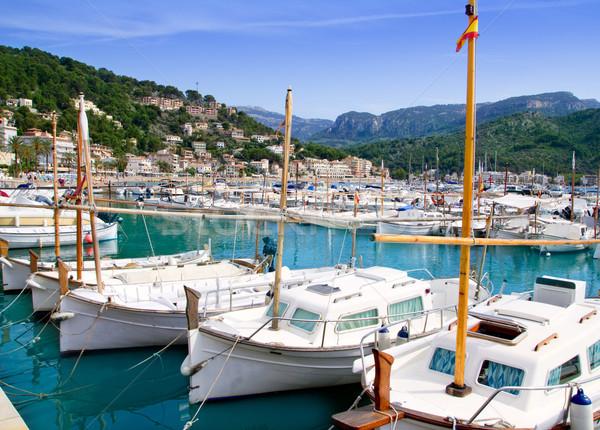 Porta mallorca barcos cidade mar verão Foto stock © lunamarina