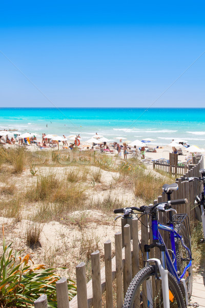 Formentera migjorn Els Arenals beach in summer Stock photo © lunamarina