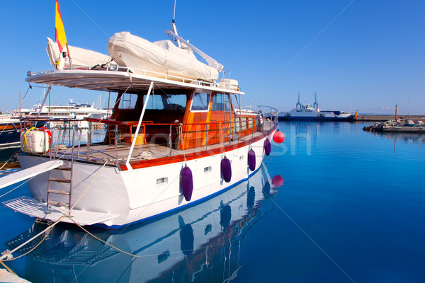 Formentera island port with boats in La Savina Stock photo © lunamarina