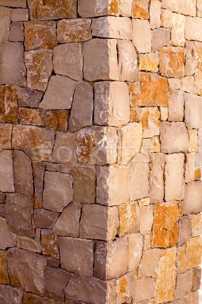 Duvarcılık taş duvar köşe detay çalışmak doku Stok fotoğraf © lunamarina