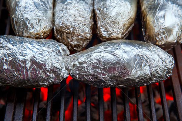 Grillezett egész krumpli finom étel étel Stock fotó © lunamarina