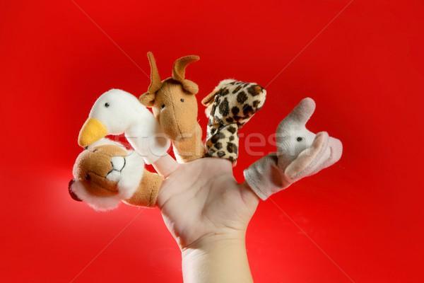 пальца стороны красный детей счастливым Сток-фото © lunamarina