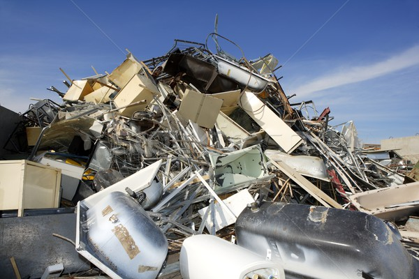 metal scrap recycle ecological factory environment Stock photo © lunamarina