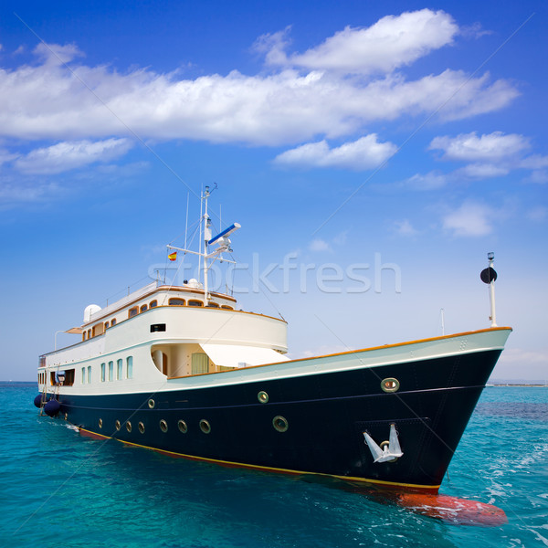 Yacht plage eau fond océan Voyage Photo stock © lunamarina