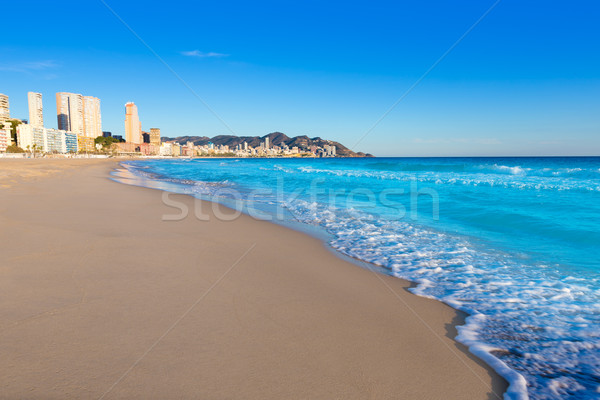 Benidorm Alicante playa de Poniente beach in Spain Stock photo © lunamarina