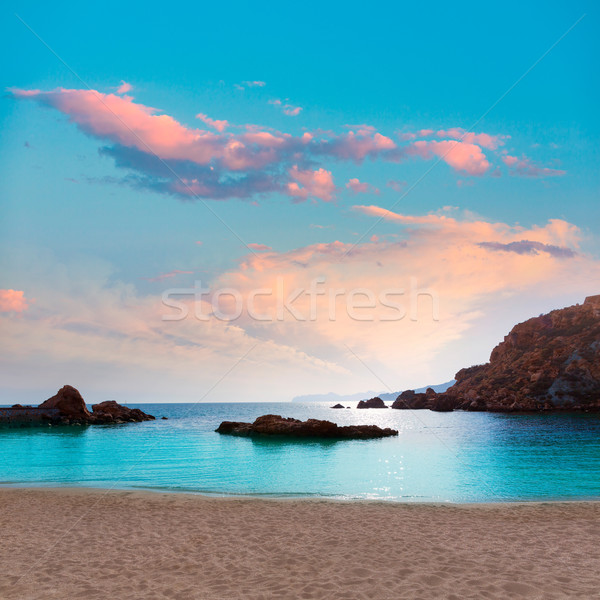 Cartagena Cala Cortina beach in Murcia Spain Stock photo © lunamarina