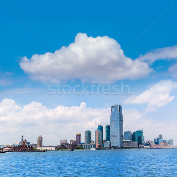 New Jersey city skyline at Hudson river New York Stock photo © lunamarina