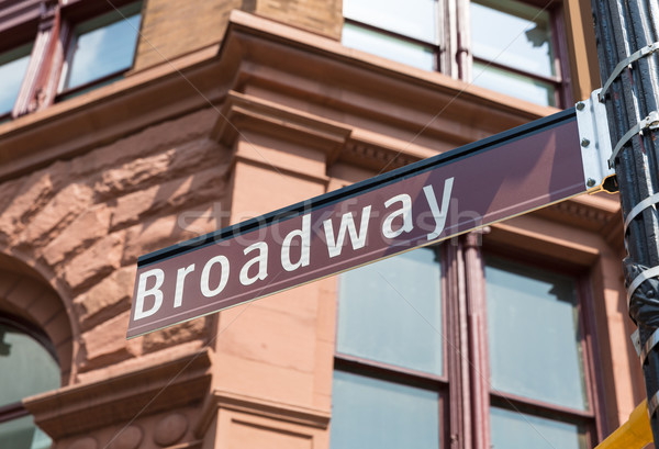 Broadway Street sign Manhattan Soho New York Stock photo © lunamarina