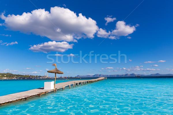 Majorca strand pier natuur landschap zee Stockfoto © lunamarina